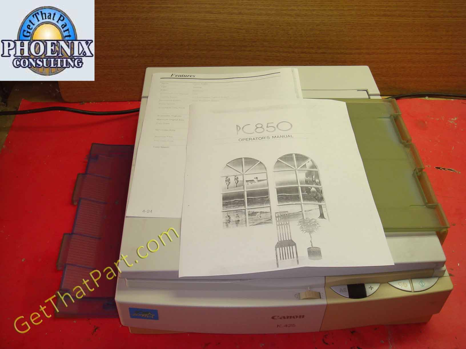 canon pc425 copier manual