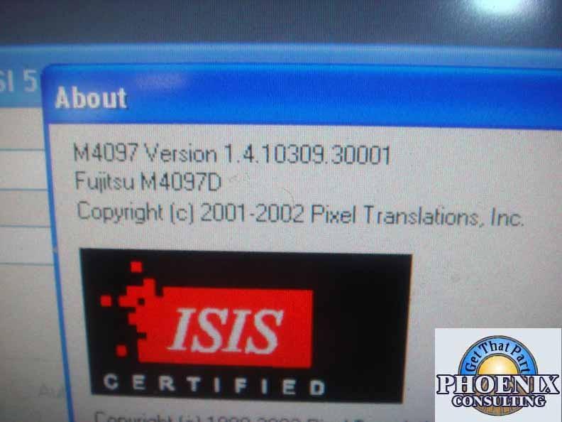 DRIVER UPDATE: FUJITSU M4097D ISIS