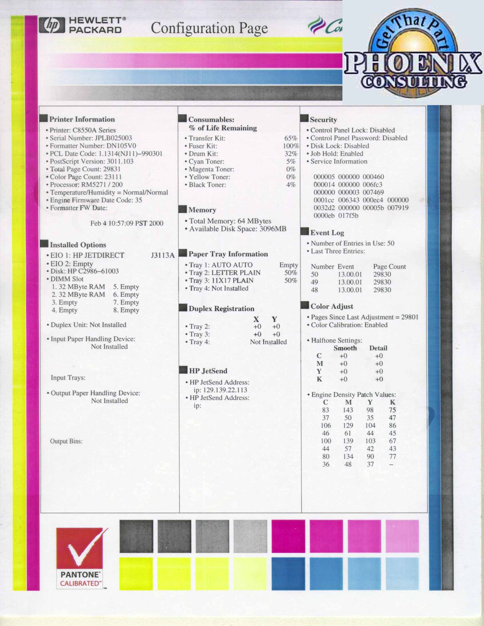 Print Color Test Page Virtrencom