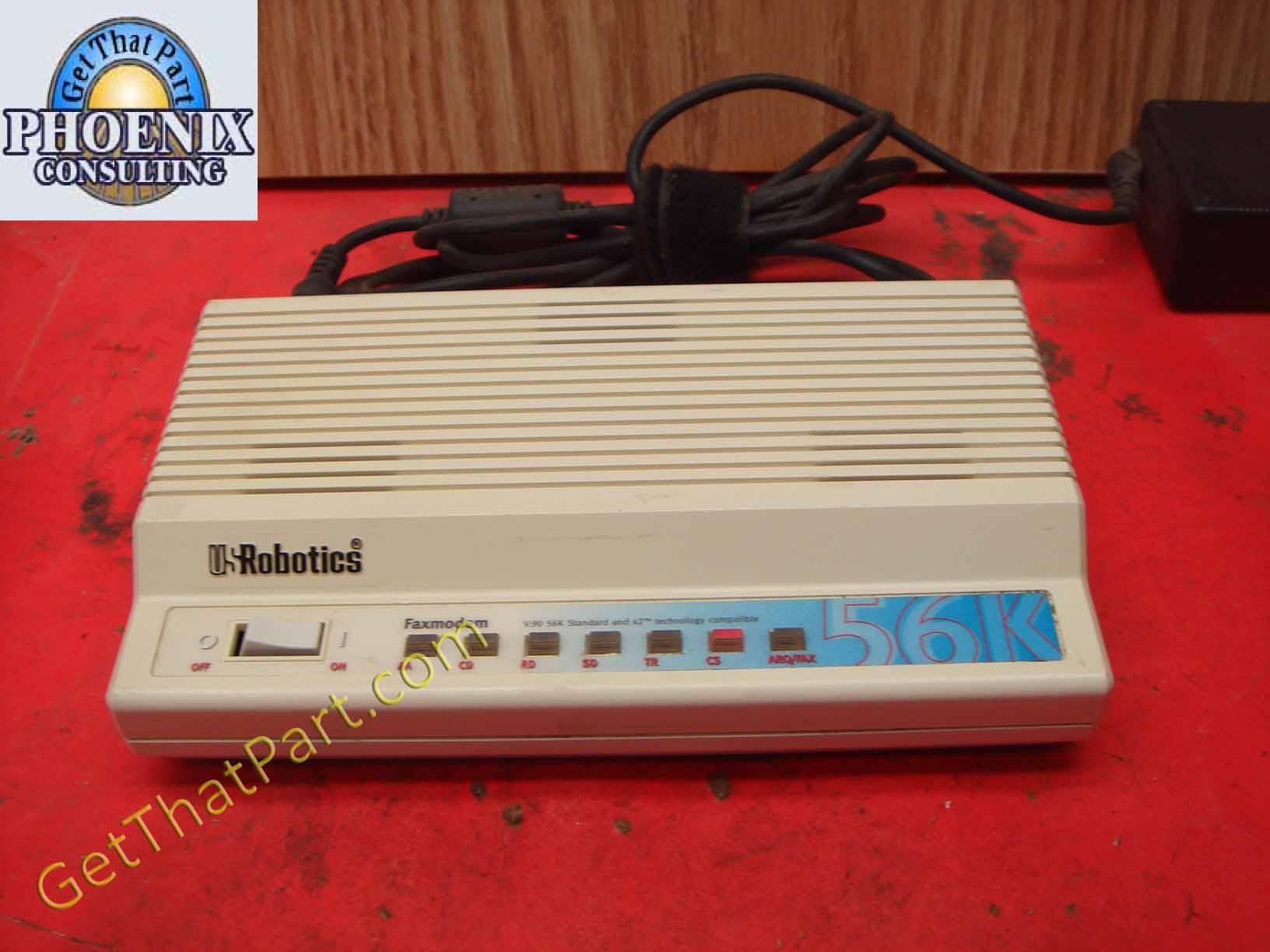 Us Robotics 56k Sportster V 90 External Fax Modem 5686 03