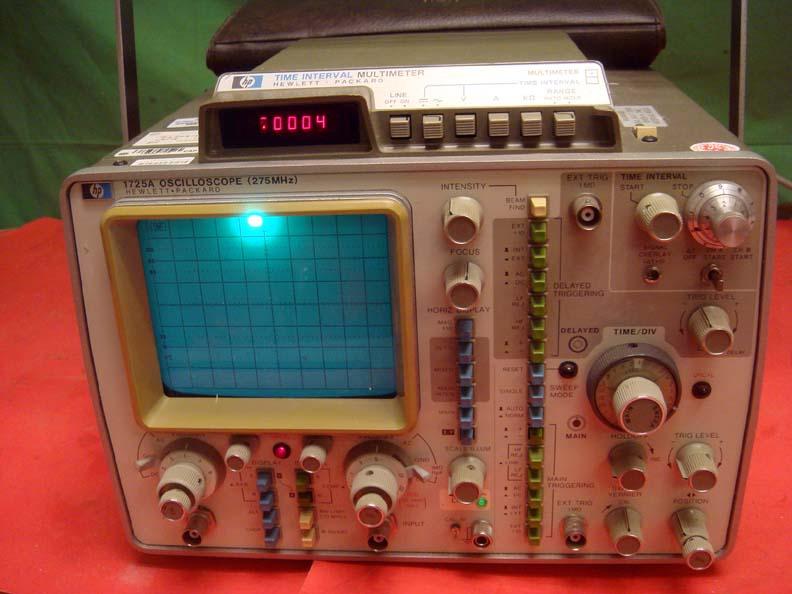 Dual Trace Oscilloscope : Hp agilent a dual trace m oscilloscope w options