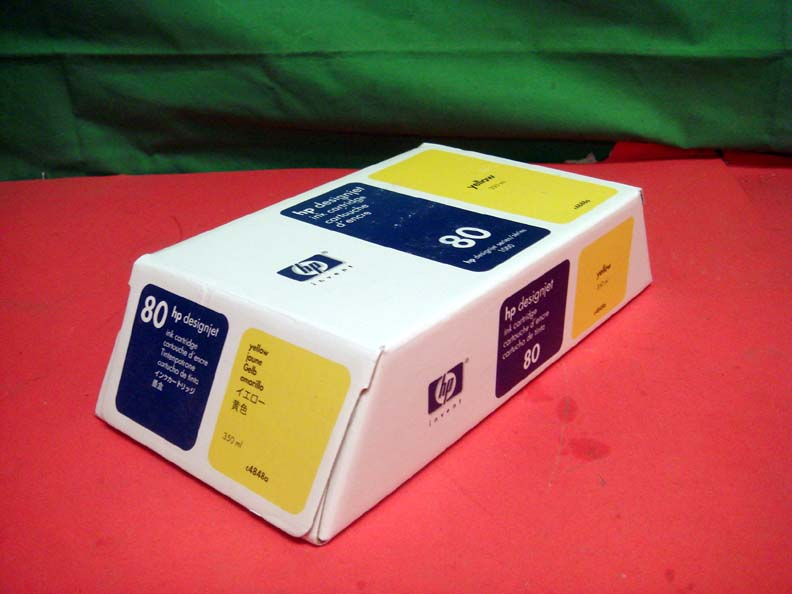 Hp Designjet 1000 C4848a 80 Yellow Ink Cartridge Oem New
