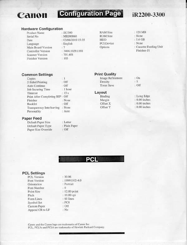 CANON IR3300 PCL6 64BIT DRIVER