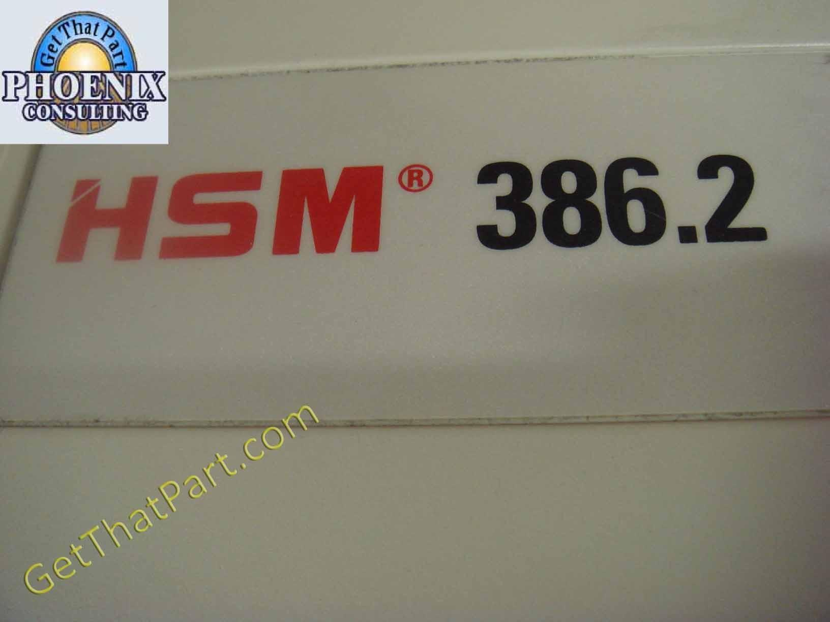 HSM 386 2 1276 StripCut Fast 1HP German Industrial Paper Shredder
