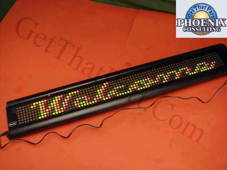 Pro Lite M2014r Programmable Color Led Moving Message
