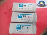 HP 5500PS 81 Black, Magenta, Cyan Dye Set of 3
