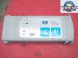 HP 5000 81 Cyan OEM Genuine Dye Ink Cartridge C4931A