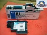 HP 5000 81 OEM Genuine Light Cyan Dye Printhead and Cleaner C4954A