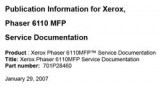 Xerox Phaser 6110 MFP Service Documentation