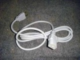 UNIVERSAL BEIGE Power Cord Cable 6' FT IEC 320