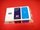 HP DesignJet 1000 C4846A 80 Cyan Ink Cartridge Oem New