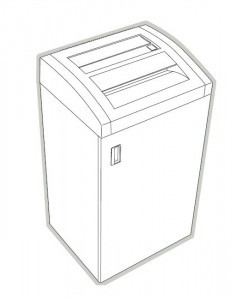HSM Classic 225 CC 225 SC Paper Shredder Housing Top Cover New