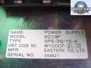 C.Itoh W10007-210 SPS-36-15-4 CI-800Q Power Supply Assy