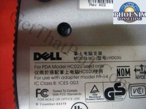 Dell HD03U Axim X3 USB Charger and Sync Cradle