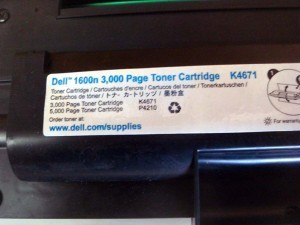 Dell 1600N Samsung 310-5417 Genuine OEM Toner Cartridge