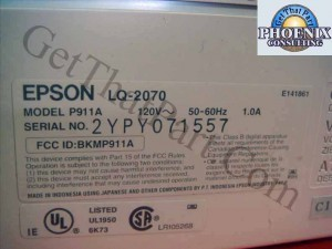 Epson P911A LQ-2070 LQ2070 Wide Forms Dot Matrix Impact Printer New