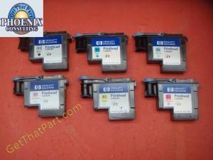 HP 5000 5500 83 UV Genuine Oem Printhead Set C4960A-65A