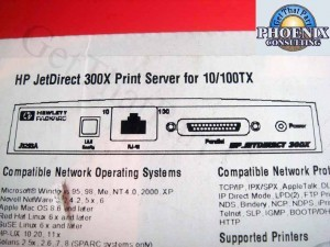 HP J3263A JetDirect 300x 10/100 RevC Network Print Server New Oem Box
