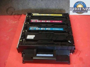 HP CP1215 RM1-4428 Toner Cartridge Tray Drawer Assembly Set