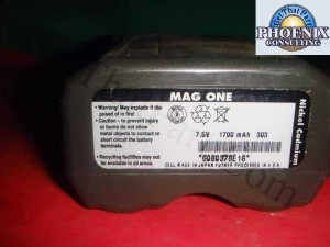 Mag One NiCd Battery 1700 6080378E