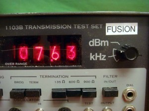 TTI 1103B Nixie Tube Digital Transmission Test Set