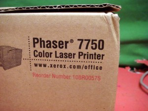 Xerox 7750 108R00575 Waste Toner Cartridge Genuine New