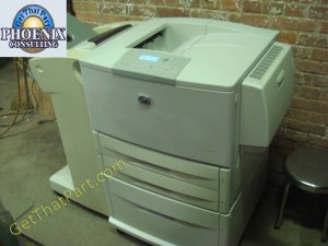hp laserjet 9050dn q3723a printer with c8531a feeder c8085 finisher rh getthatpart com HP Manuals PDF HP Computer Manual