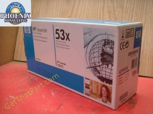 HP Q7553X 53X M2727 P2015 Genuine New OEM Toner Cartridge