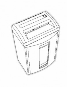 HSM Classic 104 CC SC Paper Shredder Oem Waste Collection Bin New
