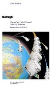 PhaserPool On-Demand Printing Software manual