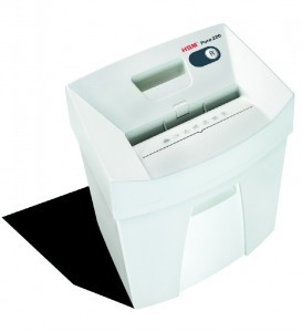HSM Pure 220c 7-8 Sheet Cross Cut German Made Paper Shredder New 2323