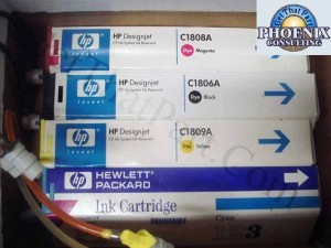 HP DesignJet 3500CP Dye Ink Set of 4 C1806-9-set