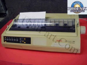 Okidata GE8253A ML321 Microline 321 Plus Forms Dot Matrix Printer