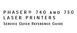 Xerox/Tektronix Phaser 740/750 Color Printer Service Manual