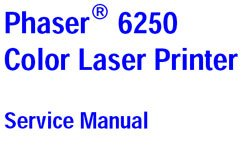 Xerox Phaser 6250 Color Laser Printer Service Manual