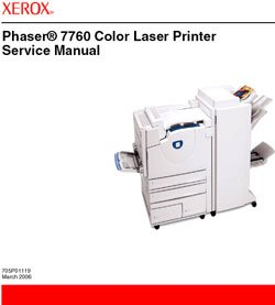 Xerox Phaser 7760 Color Laser Printer Service Manual