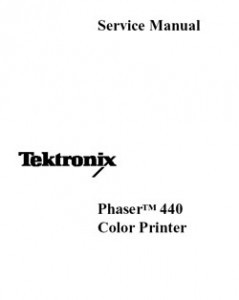 Xerox/Tektronix 440 Color Printer Service Manual