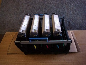 Okidata C7200 C7300 C7500 - Complete Oem Toner & Drum Set with Carrier